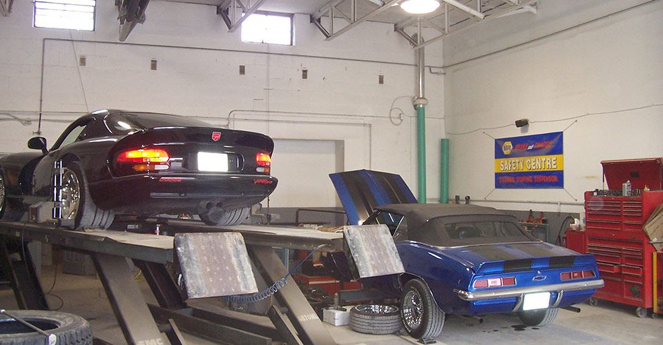 Cars in the shop